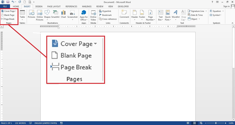 Pada-bagian-grup-Pages-pilih-Page-Break