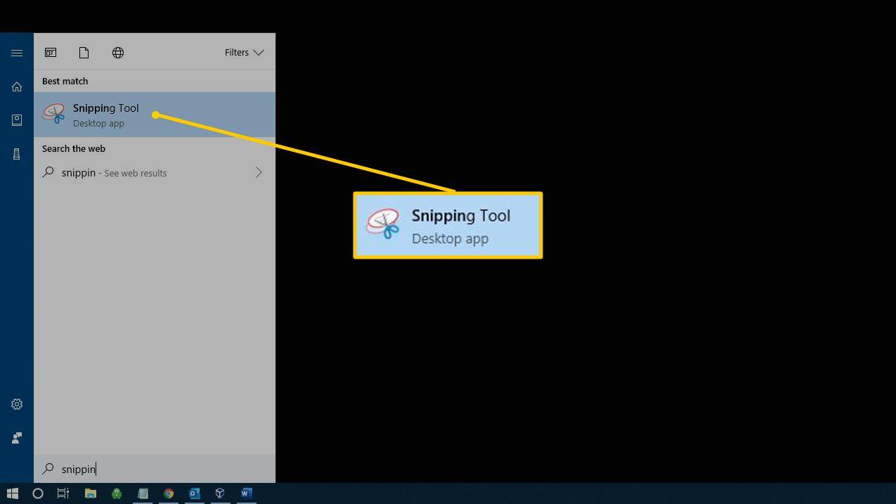 Tekan-tombol-berlogo-Windows-dan-ketik-Snipping-Tool-pada-kolom-'Search